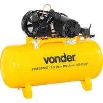 Compressor de ar baixa pressão 10 pés 100 litros trifásico - VDSE - Vonder