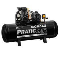 Compressor de ar baixa pressão 20 pés 150 litros monofásico, CSL 20/150 - SCHULZ -