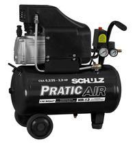 Compressor De Ar Baixa Pressão 8,2 Pés 25 Litros Monofásico - Csa8,2/25 - Pratic Air - Schulz 220V -