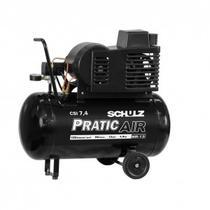 Compressor de ar csi7.4/50 litros com rodas 7.4pés 110/220v monofásico - Schulz