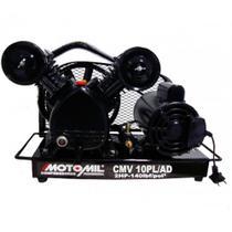 Compressor de ar de baixa pressão 10 pés monofásico - CMV10PL/AD (110V/220V) - Motomil
