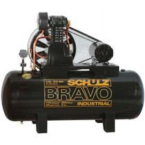 Compressor de ar de pistão alta pressão 20 pés 200 litros trifásico - CSL20BR/200 BRAVO - Schulz -