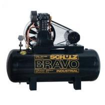 Compressor de ar de pistão alta pressão 20 pés 200 litros trifásico - CSL20BR/200 BRAVO - Schulz