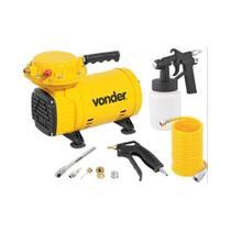 Compressor de Ar Direto 1/2 cv 2,3 Pés 110/220V com Kit Pintura - Vonder -