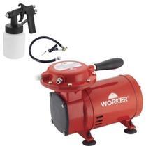 Compressor De Ar Direto 2.8 Bar 1/3 HP Bivolt 371629 - Worker -