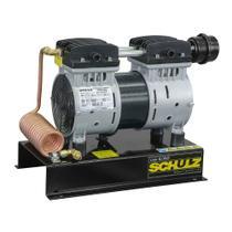 Compressor de ar direto 5 pés 1 hp isento de óleo com base - CSD5 AD - Schulz -