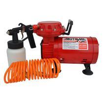 Compressor De Ar Direto Jetmil-S Bivolt Motomil Com Kit Pintura -