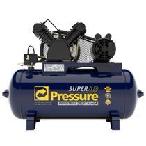 Compressor de Ar Industrial 10 Pés 140 Libras 100 Litros Monofásico 110/220V Super Ar PRESSURE -