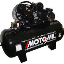 Compressor de Ar Motomil CMW-15/175, 3 HP, 175 litros, Monofásico -