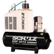 Compressor de ar Parafuso 15HP SRP3015E III 9 bar - Schulz 220V -