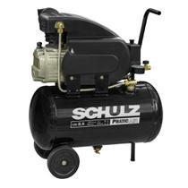 Compressor de Ar PRATIC AIR CSI 8,25/25L 2 polos 2HP/CV Monofásico 220v SCHULZ -