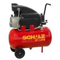 Compressor De Ar Schulz 915.0399-0 Com Rodas 2Cv 60Hz Vermelho 127V -