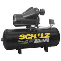Compressor de ar schulz audaz mcsv 20 pes 150 litros 5 cv trifasico 220/380v -
