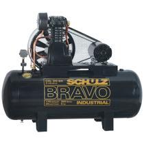 Compressor de ar schulz bravo csl 20 pes 200 litros 5 cv trifasico 220/380v -