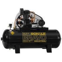 Compressor de ar schulz bravo csl 25 pés 250 litros 5 cv trifásico 220/380v -