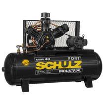 Compressor de ar schulz fort msw 40 pés 425 litros 10 cv trifásico 220v -