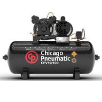 Compressor de Pistão 2HP 10 Pés 100 Litros 110/220V Monofásico - Chicago Pneumátic