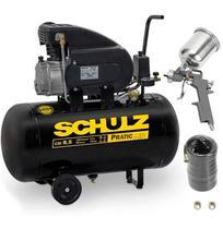 Compressor Motocompressor de Ar 2,0 HP 8,5 Pés 50 Litros CSI 8,5/50 Pratic Air com Kit SCHULZ -