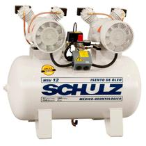 Compressor Odontológico 12 Pes Monofásico MMSV12/100 Isento de Óleo - Schulz 220V 92080420 -