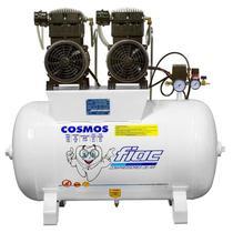 Compressor Odontológico 20 Pés 4,0 HP 100 Litros COSMOS 100 Isento de Óleo FIAC -