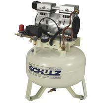 Compressor odontologico schulz csd 5 pes 30 litros 1 cv monofásico 127v - isento de oleo -