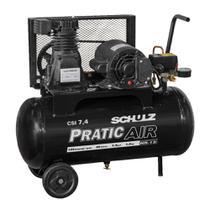 Compressor Pratic Air CSI 7,4/30 com rodas - Schulz