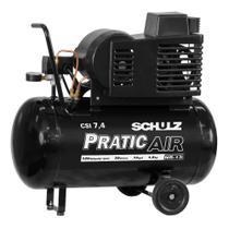 Compressor Pratic Air CSI 7,4/50 com rodas - Schulz