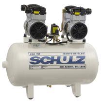 Compressor Schulz CSD 18 100 Litros 120 Libras 2 Motores 1.5 cv 220v Monofásico Isento de Óleo -