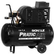Compressor Schulz CSI 7.4 Pratic Air 50 Litros 120 Libras 1.5 cv Monofásico -