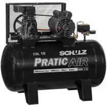 Compressor Schulz Csl 10 Pratic Air 100 Lts 120lbs 2cv Mono -