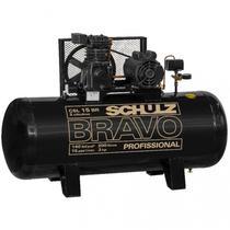 Compressor Schulz CSL 15 Bravo 200 Litros 140 Libras 3 cv Trifásico -