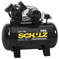 Compressor Schulz CSV 10 Pro 100 Litros 140 Libras 2 cv Monofásico -