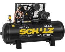 Compressor Schulz Msv 20 Max 250 Lts 175 Lbs 5 Cv Trif. -
