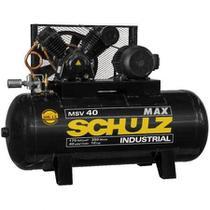 Compressor Schulz Msv 40 Max 350 Litros 175lbs 10cv Trif. -