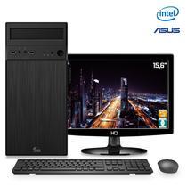 Computador 3Green com Monitor LED Intel 8a geração G5400 3.7ghz 8GB DDR4 HD 500GB HDMI Áudio 8 canais Asus H310M -