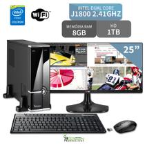 Computador 3green Slim Intel Dual Core 8GB 1TB Wifi Monitor 25 ultrawide 25UM58-P FullHD - 3green technology