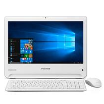 "Computador All In On Positivo 41TA, Intel Core i3, 4GB RAM, HD 1TB, 18.5"", Windows 10 - Branco -"