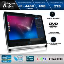 Computador All in One 21. 5 Icc Vision Av2-4543 Intel I5-4460 3,20ghz 4gb Hd 2tb Wifi Webcam Dvdrw