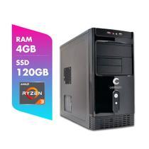 Computador AMD Ryzen 3 3200G 4GB SSD 120GB Certo PC Dinamic III 1001 -