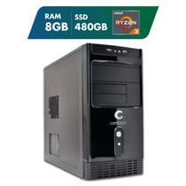 Computador AMD Ryzen 3 3200G 8GB SSD 480GB Certo PC Dinamic III 1019 -