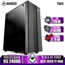 Computador AMD Ryzen 5 2400G, A320M, GTX 1050 Ti 4GB, 16GB, 120GB, 500W - Mancer