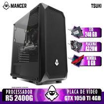 Computador AMD Ryzen 5 2400G, A320M, GTX 1050 Ti 4GB, 8GB, SSD 240GB, 500W - Mancer