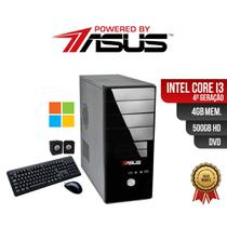 Computador  ASUS  I3 4ger 4gb 500gb DVD Win  Kit