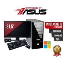Computador  ASUS  I3 4ger 8gb 500gb DVD Mon 21.5 Win  Kit