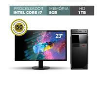 Computador Asus Intel Core I7 3.40ghz Memória 8gb Ddr3 Hd 1tb Windows Monitor 23 - CORPORATE