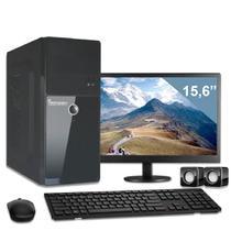 Computador com monitor 15,6 intel dual core 2.41ghz 4gb hd 500gb 3green business desktop -