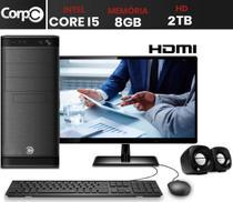 "Computador com Monitor LED 19.5"" HDMI Intel Core i5 8GB HD 2TB CorPC -"