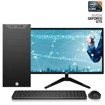 "Computador com Monitor LED 24"" CorPC Graphics Turbo Intel Core i7 8GB (Placa de vídeo GeForce GTX1050Ti 4GB) SSD 120GB HD 3TB - Easypc"