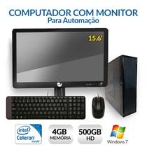 Computador com Monitor para Automação, Intel Dual Core, 4GB, HD 500, Windows 7 - Alfatec