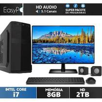 "Computador Completo EasyPC Intel Core i7 8GB HD 2TB Monitor 21.5"" Full HD -"